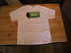 "White ""T"" Shirt with logo"